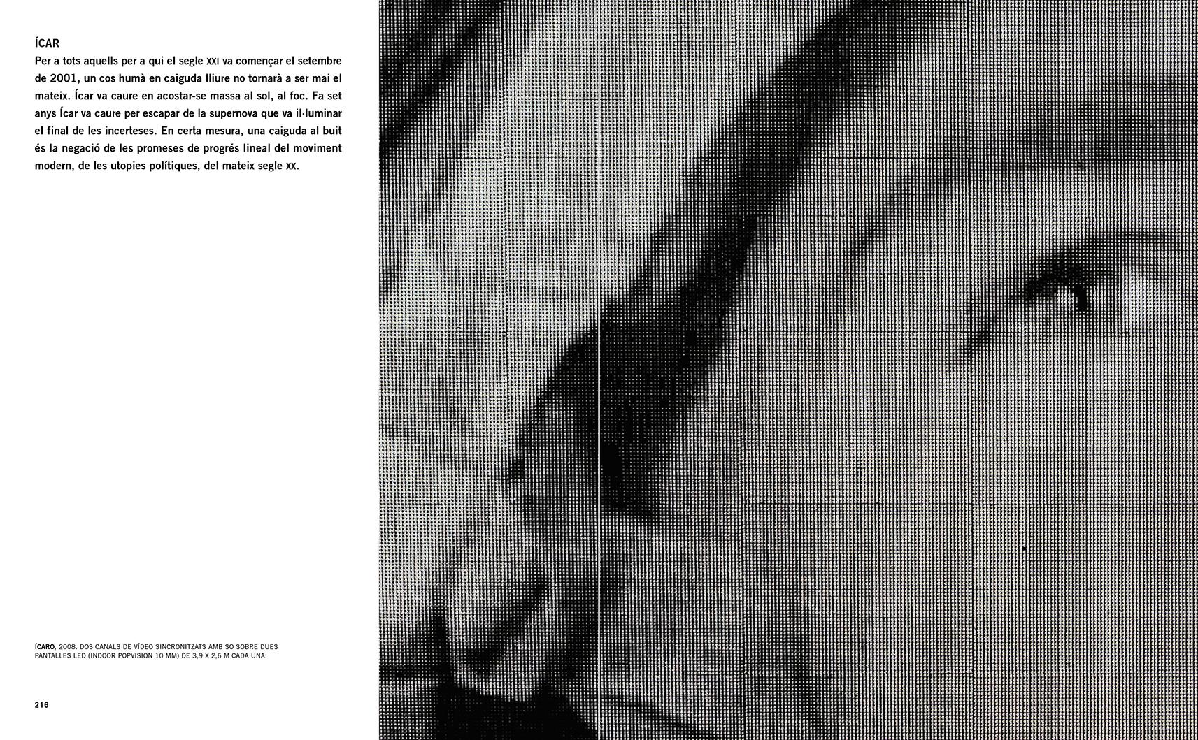 """Selecció del catàleg """"Francesc Torres. Da capo"""" pàgines 216 i 217"""