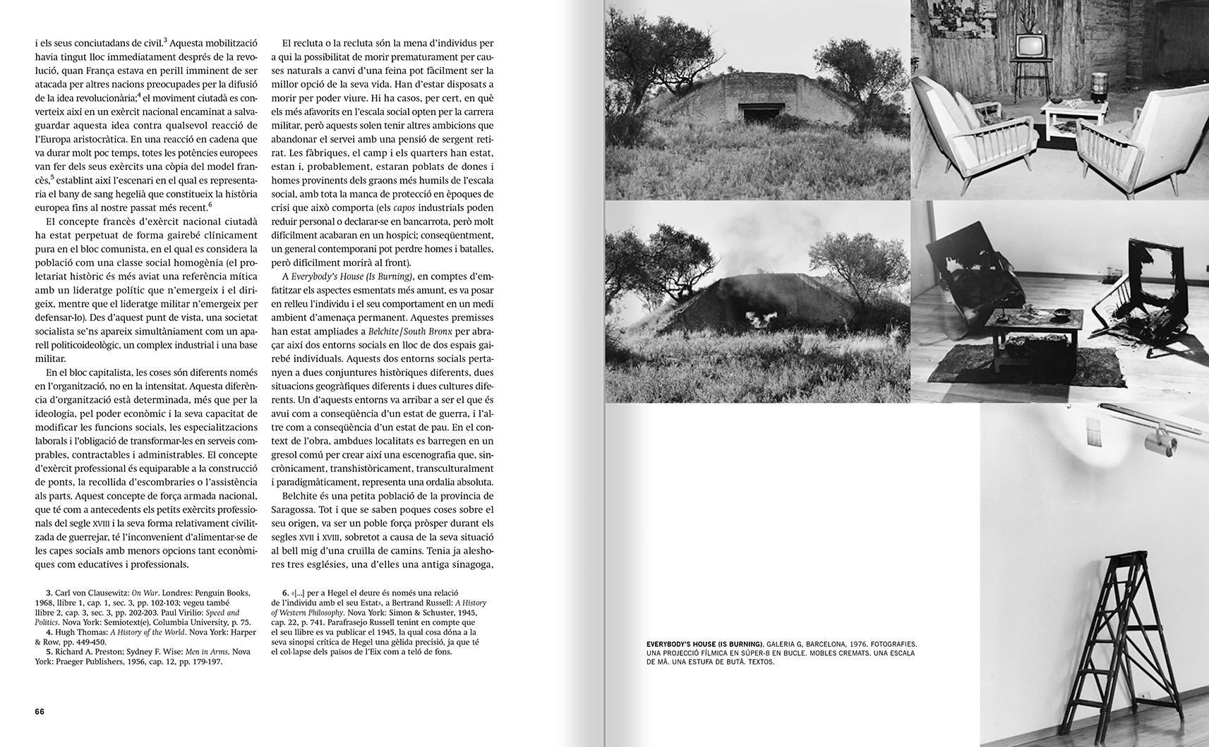 Selection from the catalogue 'Francesc Torres. Da capo', pages 66 and 67