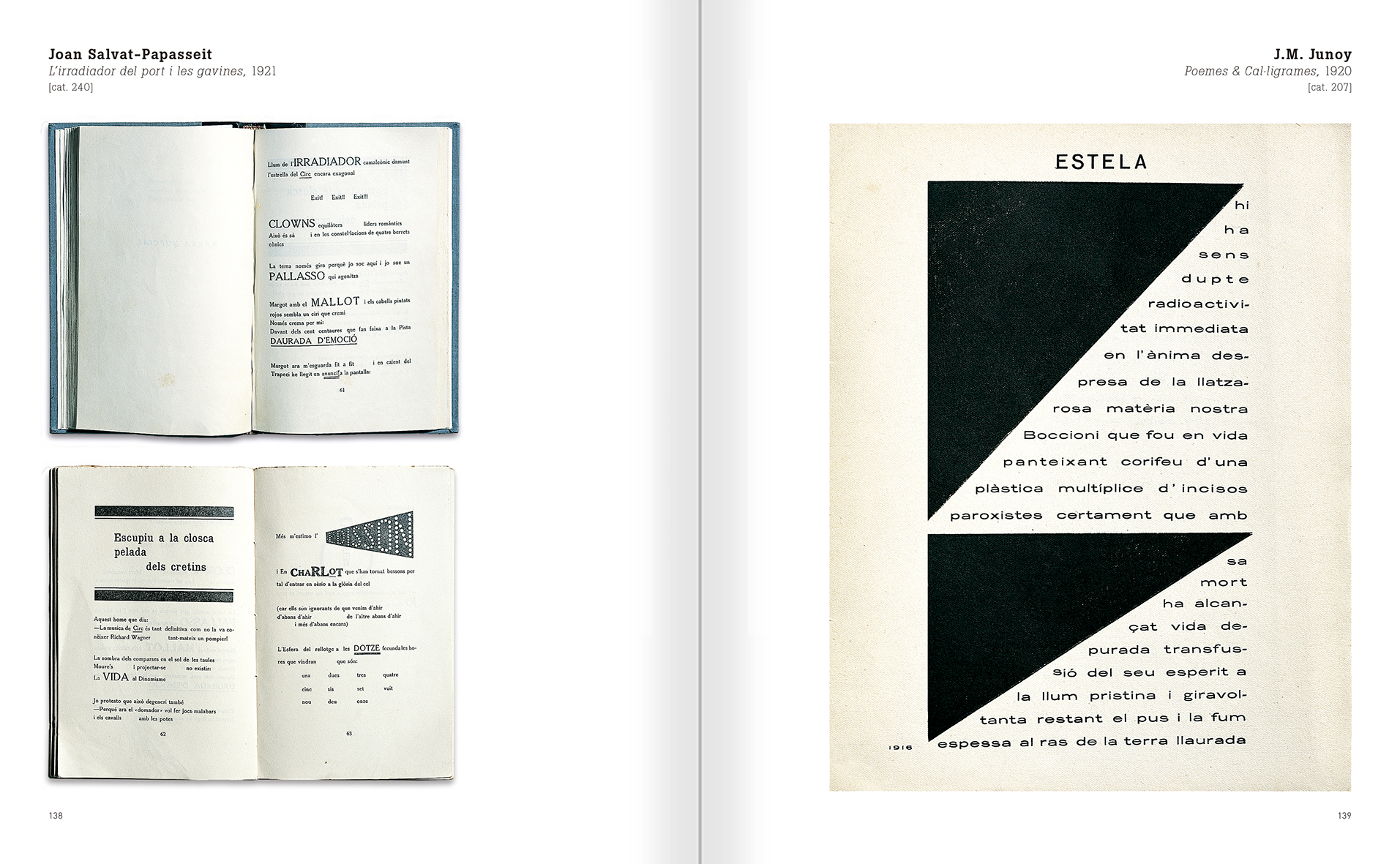 Selection from the catalogue 'Nancy Spero. Dissidances', pages 138 and 139