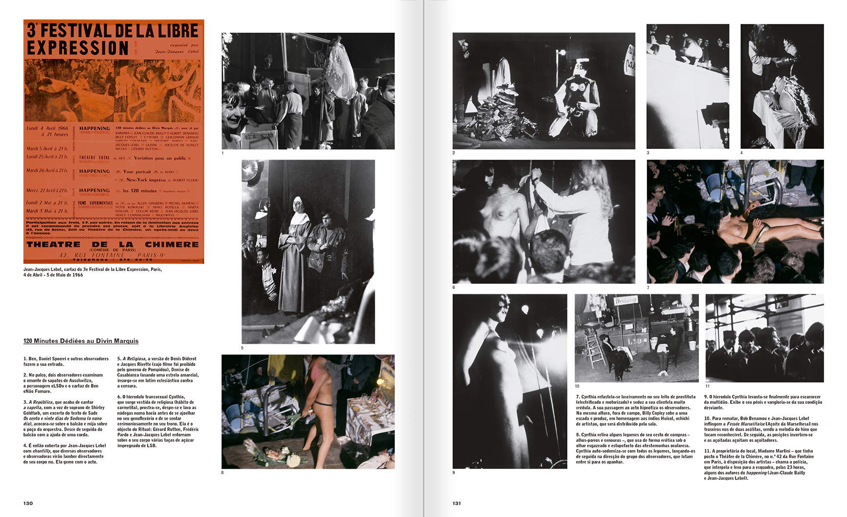 Selection from the catalogue 'A Theater without Theater', pages 130 and 131