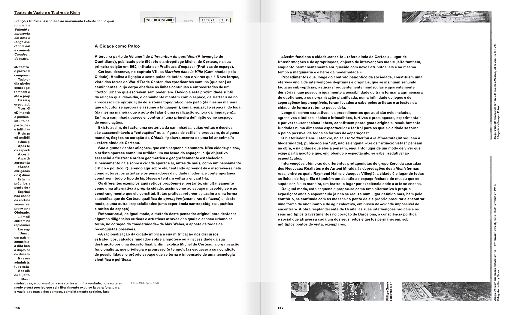 Selection from the catalogue 'A Theater without Theater', pages 146 and 147
