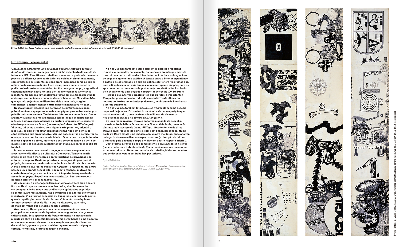 Selection from the catalogue 'A Theater without Theater', pages 160 and 161