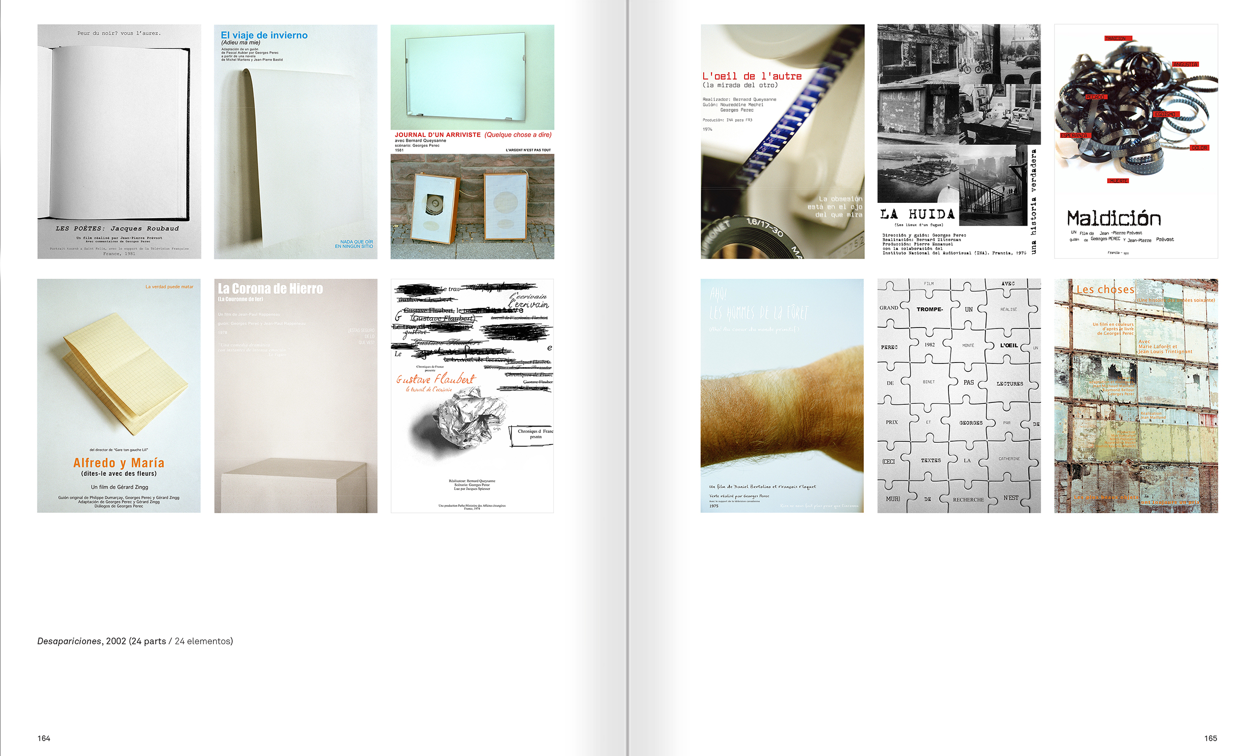 Selection from the catalogue 'Ignasi Aballí. 0-24 h', pages 164 and 165