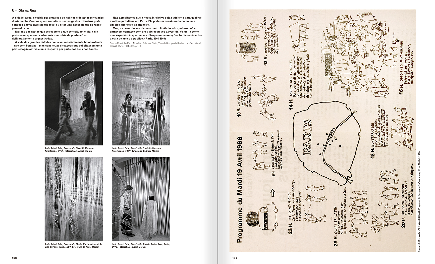 Selection from the catalogue 'A Theater without Theater', pages 166 and 167