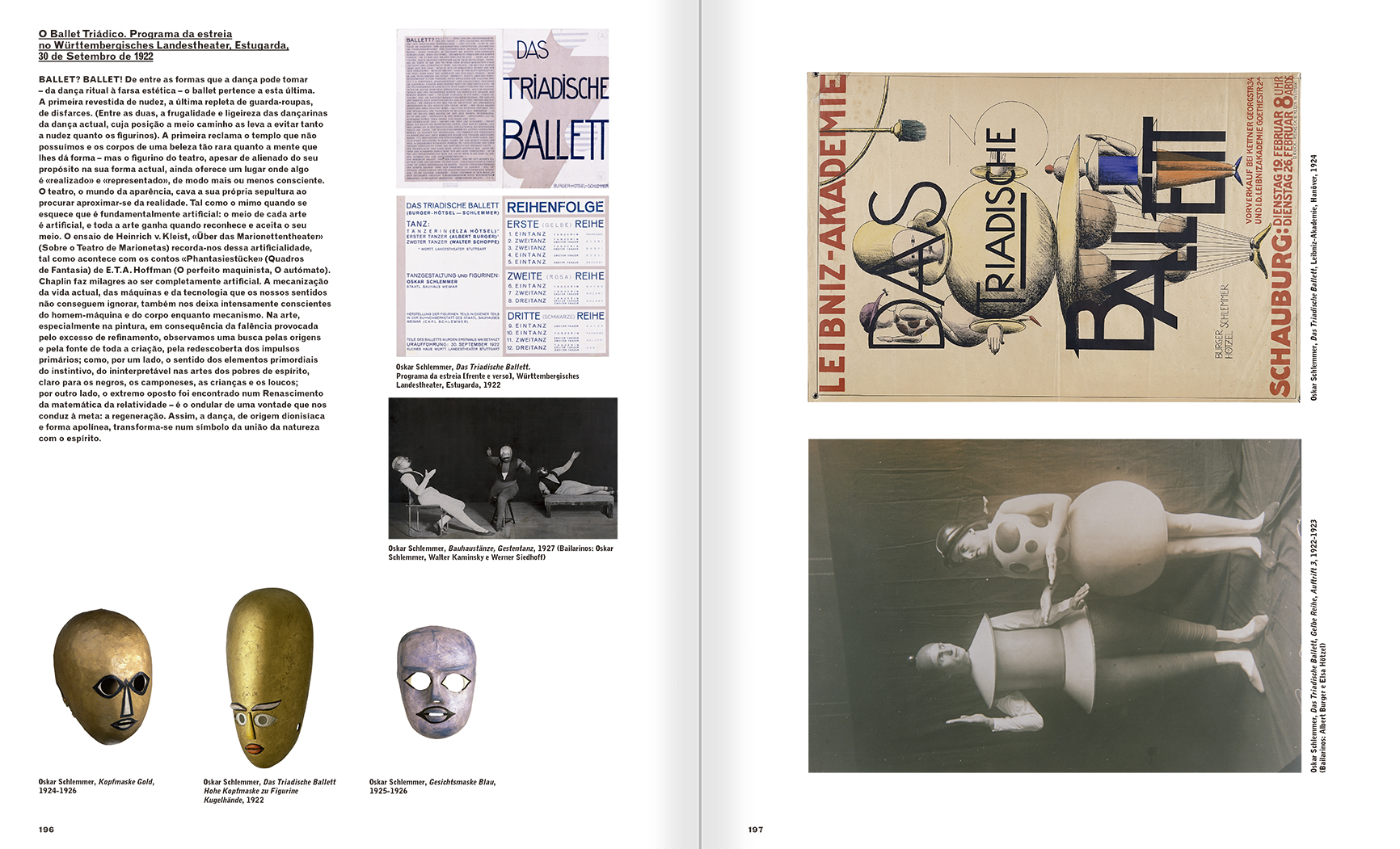 Selection from the catalogue 'A Theater without Theater', pages 196 and 197