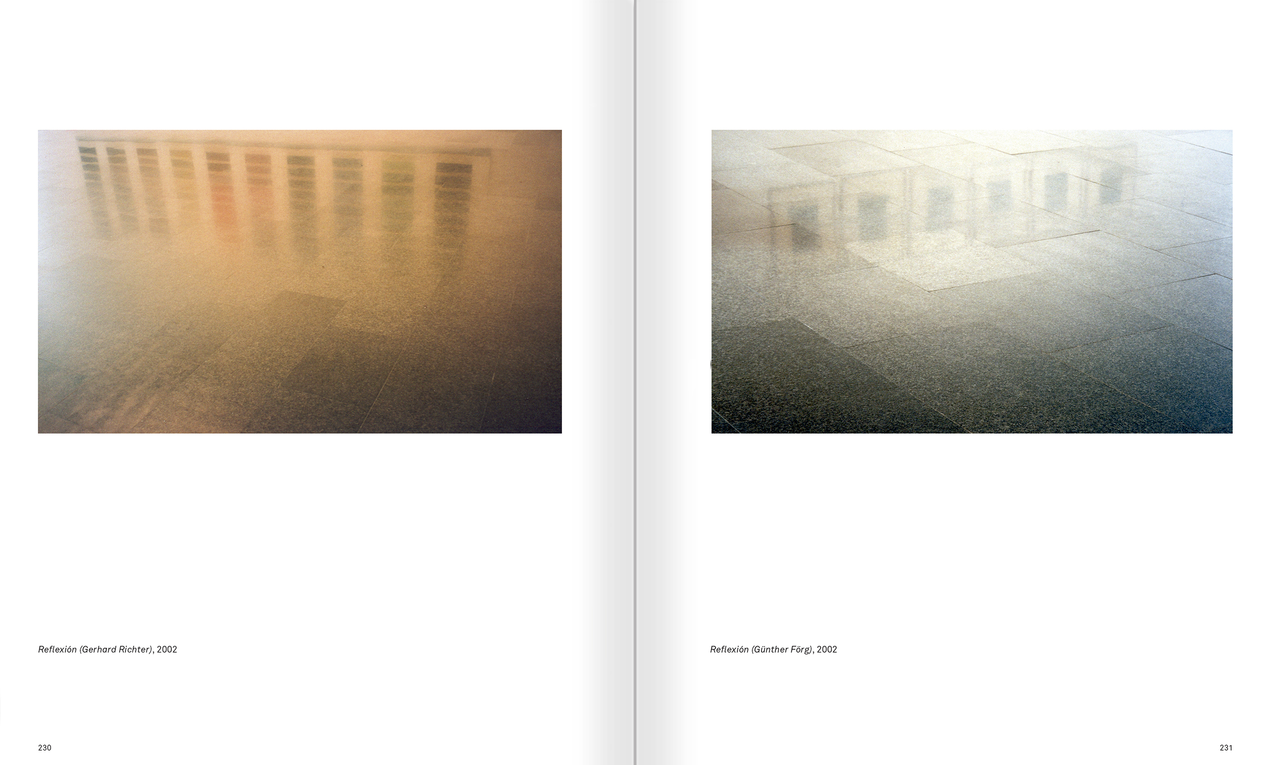 Selection from the catalogue 'Ignasi Aballí. 0-24 h', pages 230 and 231