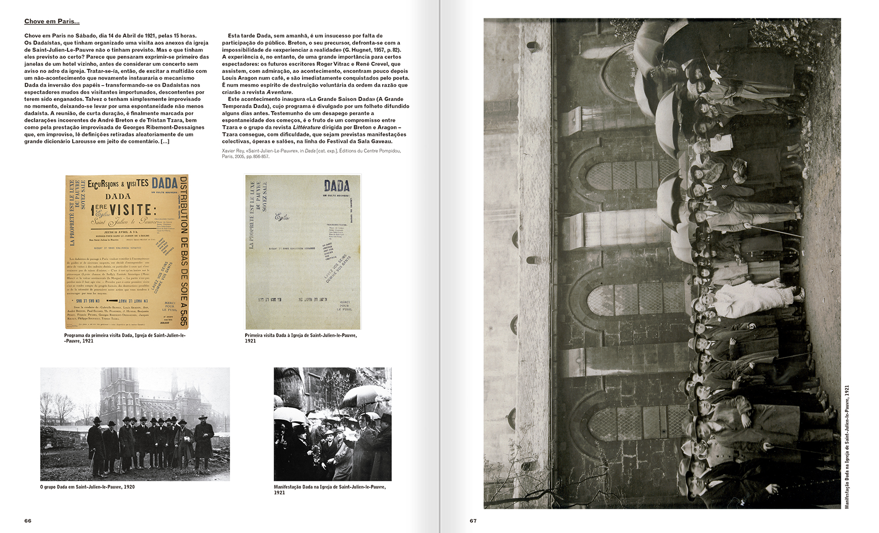 Selection from the catalogue 'A Theater without Theater', pages 66 and 67