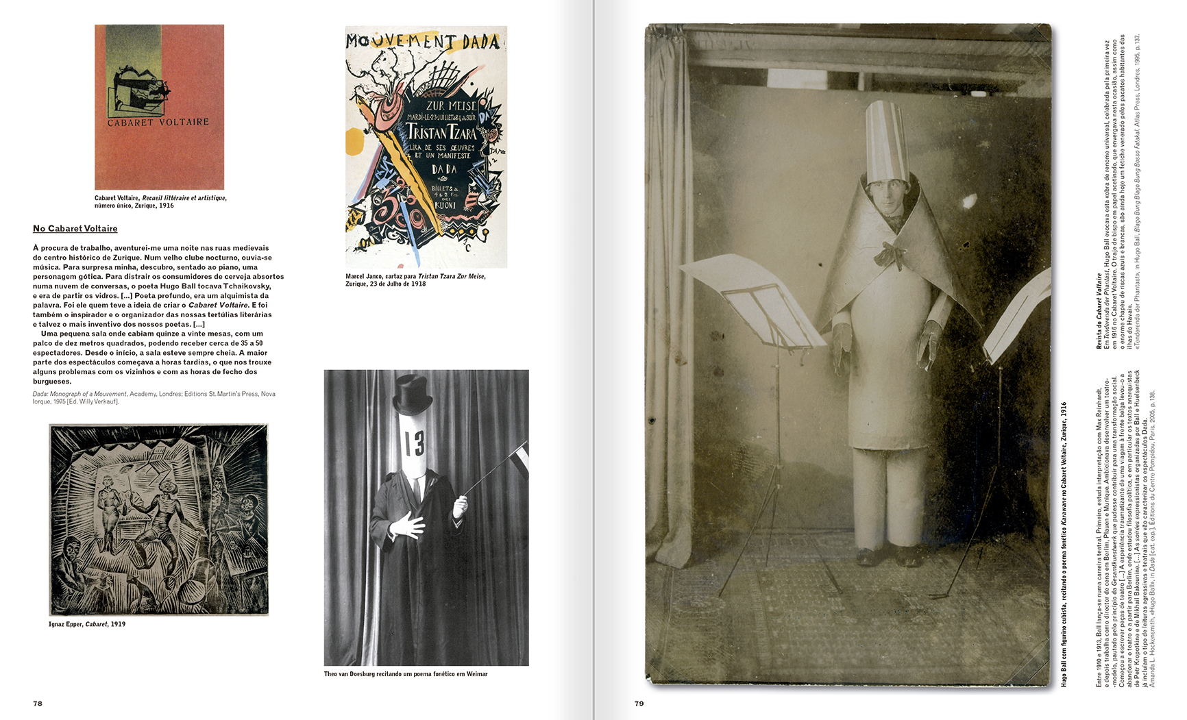 Selection from the catalogue 'A Theater without Theater', pages 78 and 79