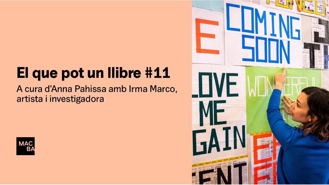 El que pot un llibre #11. Irma Marco